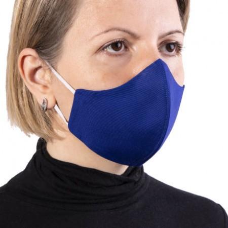 Masca de protectie reutilizabila dublu strat fara pliuri Bleumarin