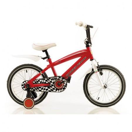 Bicicleta cu roti ajutatoare Ferrari Team 16 Rosu/Negru 2015 - Model Buy Back