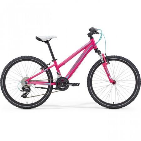 Bicicleta pentru copii Merida Matts J24 Roz-Albastru-Gri 2016