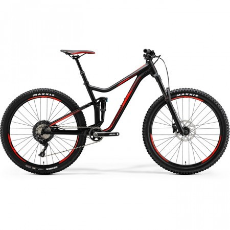 Bicicleta de munte pentru barbati Merida One-Forty 700 Negru mat(Rosu) 2018 MODEL TEST