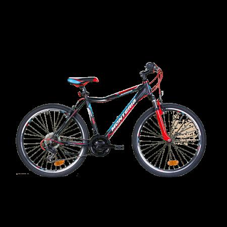 Bicicleta pentru copii Romet Monteria JUNIOR 26 Negru//Rosu/Albastru