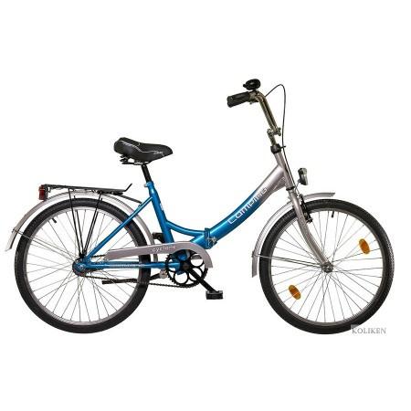 Bicicleta albastra Koliken Camping Pliabila 24