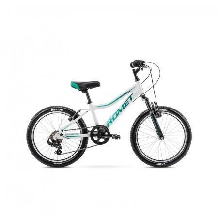 Bicicleta pentru copii Romet Rambler 20 Kid 2 S/10 Alb/Albastru 2021
