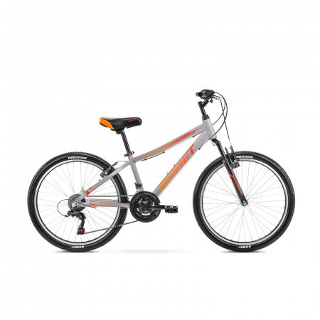 Bicicleta pentru copii Romet Rambler 24 S/13 Grafit/Rosu 2021