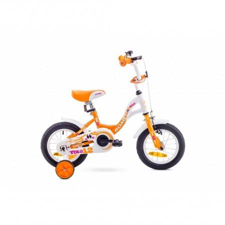 Bicicleta pentru copii Romet Tola 12 Alb/Portocaliu 2018