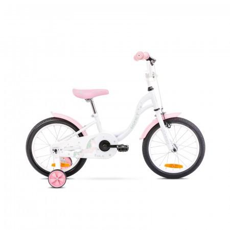 Bicicleta pentru copii Romet Tola 16 S/9 Alb/Turcoaz 2021