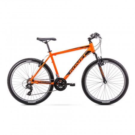 Bicicleta de munte pentru Barbati Romet Rambler R6.0 Portocaliu/Negru 2019