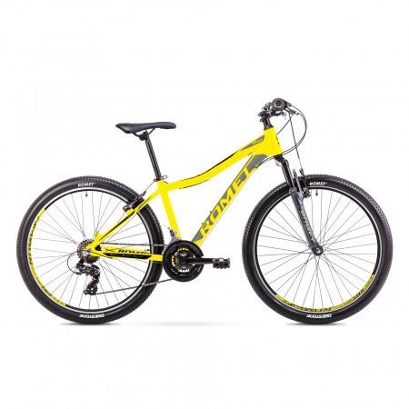 Bicicleta de munte pentru Juniori Romet Rambler R6.0 Jr Galben/Gri 2019
