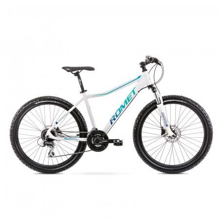 Bicicleta de munte pentru femei Romet Jolene 6.3 Alb/Verde 2021