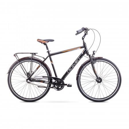 Bicicleta de oras pentru barbati Romet ART NOVEAU 3 Negru/Portocaliu 2018