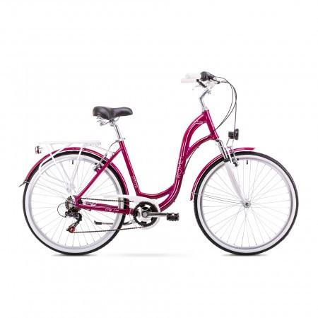 Bicicleta de oras pentru Femei Romet Symfonia 1.0 Visiniu 2019