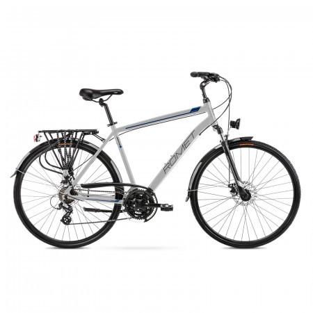 Bicicleta de trekking pentru barbati Romet Wagant 2 Argintiu/Albastru 2021