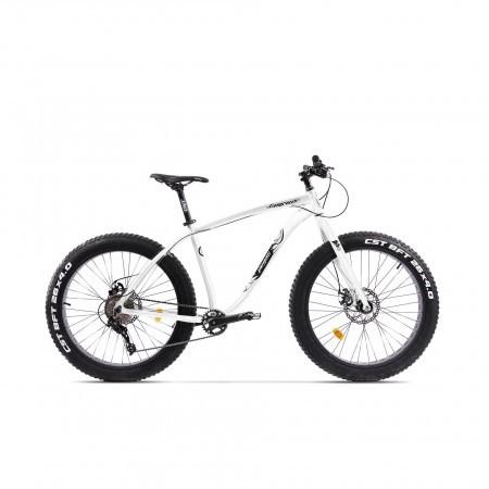 Bicicleta Fatbike unisex Pegas Suprem FX 17 inch Alb Perlat