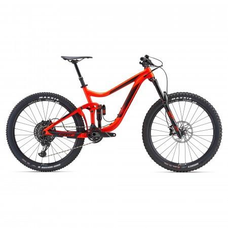 Bicicleta full-suspension Giant Reign 1 Rosu neon 2018