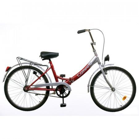 Bicicleta rosie Koliken Camping Pliabila 24