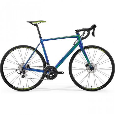 Bicicleta de sosea pentru barbati Merida Scultura Disc 400 Albastru(Verde) 2018