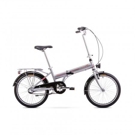 Bicicleta pliabila Unisex Romet Wigry 3 Argintiu/Rosu 2019