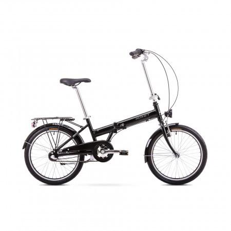 Bicicleta pliabila Unisex Romet Wigry 3 Negru/Argintiu 2019