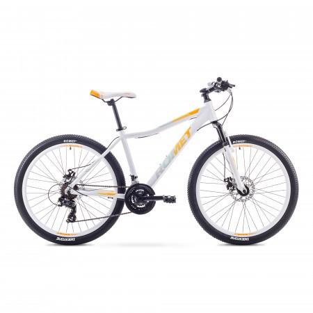 Bicicleta de munte pentru Femei Romet JOLENE 26 2 Alb/Portocaliu 2018