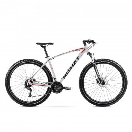 Bicicleta de munte unisex Romet Mustang M1 Gri/Rosu 2022