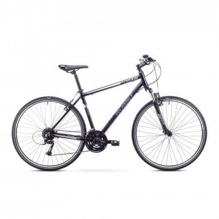 Bicicleta de trekking/oras pentru Barbati Romet ORKAN 2 M Negru/Gri 2018