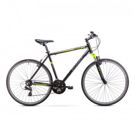 Bicicleta de trekking/oras pentru Barbati Romet ORKAN M Negru/Verde 2018