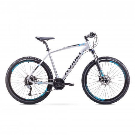 Bicicleta de munte pentru barbati Romet Rambler 27.5 3 Argintiu/Albastru 2018