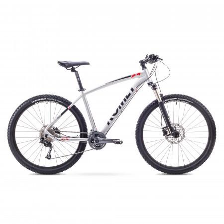 Bicicleta de munte pentru Barbati Romet RAMBLER 27.5 4 Argintiu/Rosu 2018