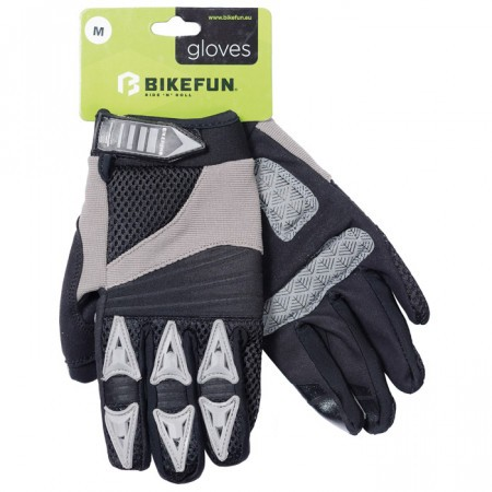 Manusi ciclism Bikefun Comp Negru/Gri