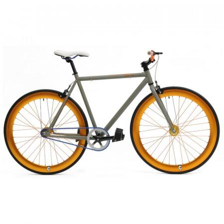 Bicicleta de oras fixie Cheetah Gri/Auriu
