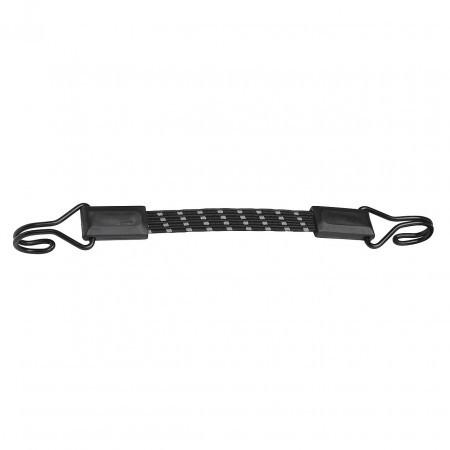 Coarda elastica plata reflectorizanta MasterLock cu carlig 30cm x 18mm