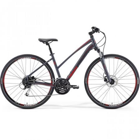 Bicicleta de trekking Merida Crossway 100 Dama Antracit/Rosu 2015