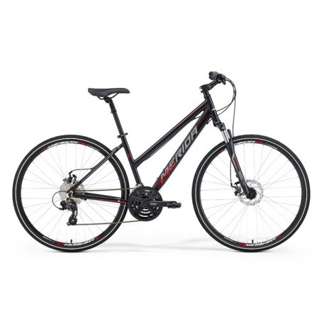 Bicicleta Merida Crossway 15MD Dama Negru/Rosu