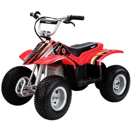 ATV electric pentru copii 8+ ani Razor Dirt Quad Negru/Rosu