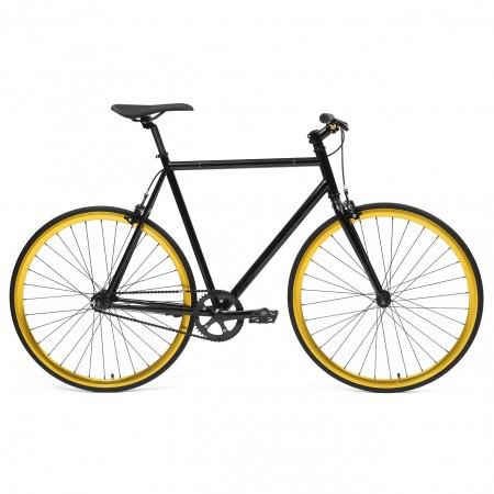 Bicicleta Fixie flip-flop hub Deoras Negru/Auriu