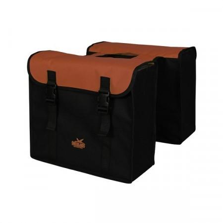 Geanta dubla portbagaj Negru Rosu 34L