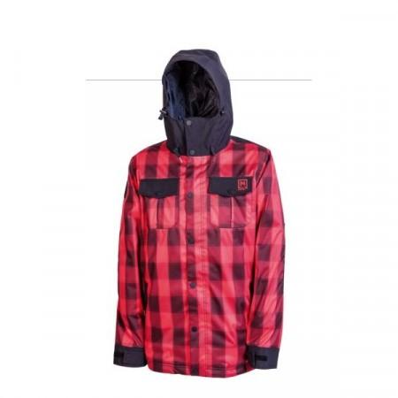 Jacheta snowboard Nitro GREASER red plaid-black