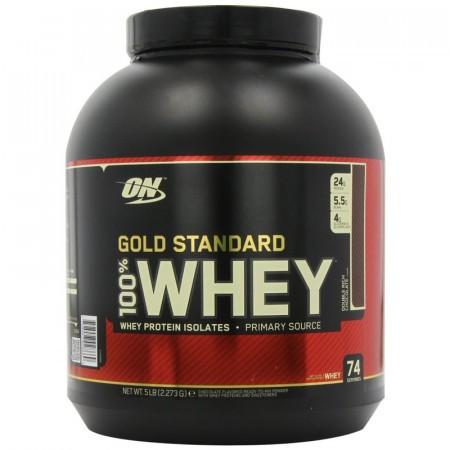 100% Whey Gold Std - Double Rich Choc. 5 lbs