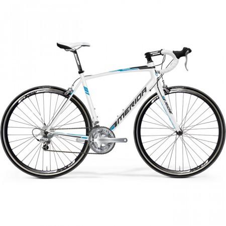 Bicicleta MERIDA 2013 RIDE LITE JULIET 91-27 M/L(54) ALB(NEGRU/ALBASTRU CYAN)
