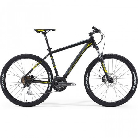 Bicicleta MERIDA 2014 BIG SEVEN 100 GALBEN SILK MAT NEGRU