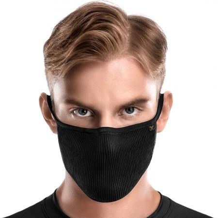 Masca antibacteriana pentru sportivi Naroo FU+ Copper cu filtrare particule Negru