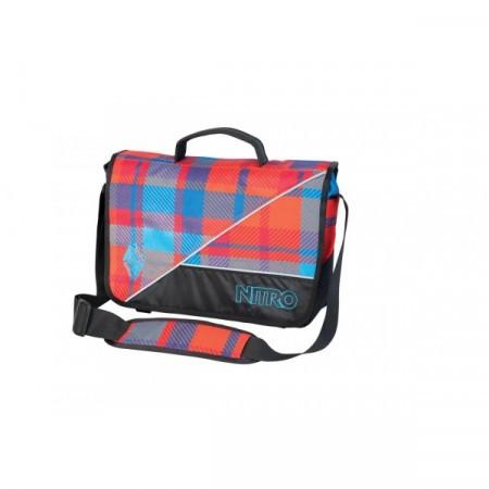 Rucsac Nitro Evidence Bag plaid red-blue