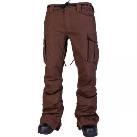 Pantaloni snowboard L1 SKINNY CARGO brown overdye denim