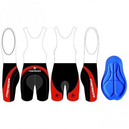 Pantaloni MERIDA scurt cu bretele Rosu/Negru