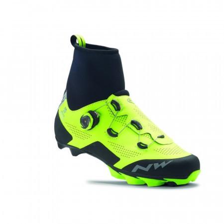 Pantofi ciclism MTB Northwave Raptor Arctic GTX Galben Fluorescent