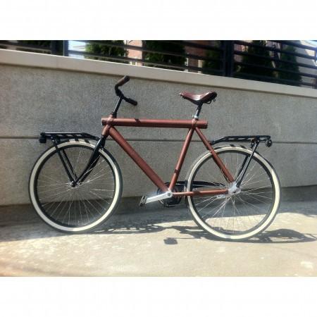 Bicicleta imbracata in piele model unicat Vanmoof VM3 barbati