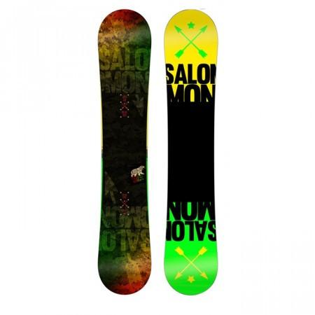 Placa Snowboard Salomon Pulse Negru/Verde/Galben