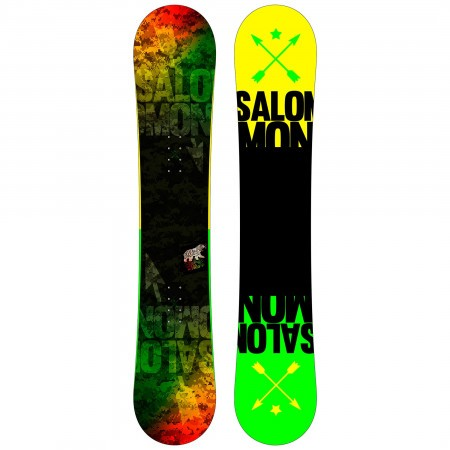 Placa Snowboard Salomon Pulse Wide Negru/Verde/Galben