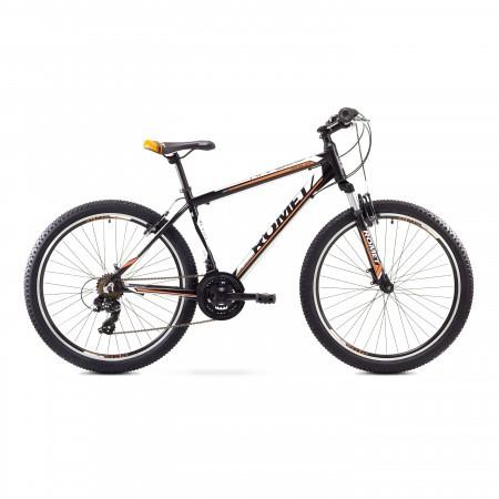 Bicicleta de munte Romet RAMBLER 26 1 Negru-Portocaliu 2017