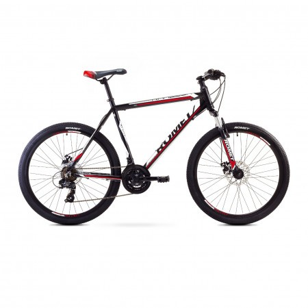 Bicicleta de munte Romet RAMBLER 26 2 Negru-Rosu 2017